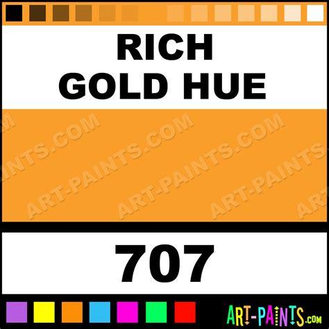 paint color hues rich gold hue artist acrylic paints 707 rich gold hue