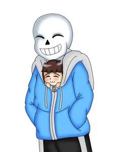 Undertale Sans and Frisk