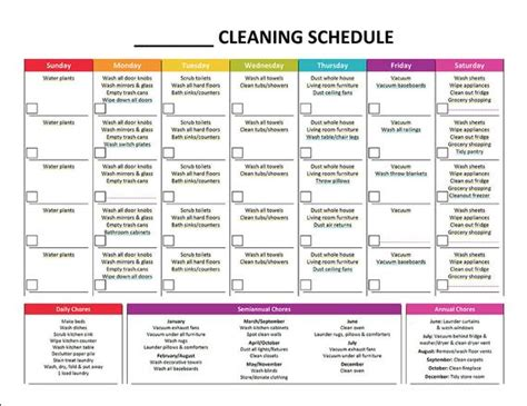 printable monthly cleaning schedule  gracebyfaith  etsy