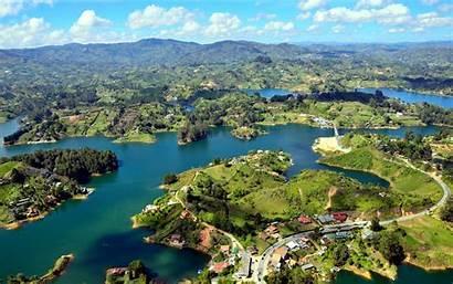 Colombia Guatape Islands Desktop Wallpapers Forest Landscape