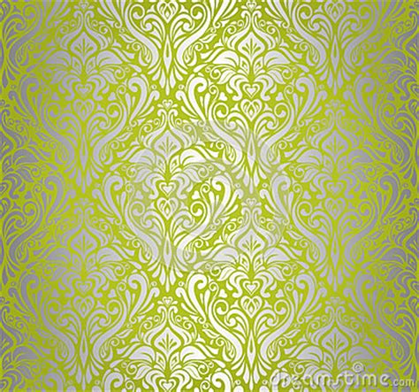 green silver vintage wallpaper royalty  stock