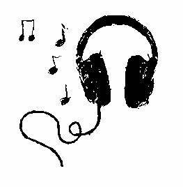 clipart headphones with music notes - Clipground