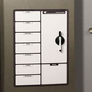 Tableau Ardoise Magnétique : ardoise tableau magn tique effa able liste de courses noir ~ Dode.kayakingforconservation.com Idées de Décoration