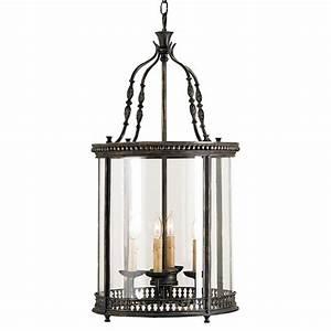 Gardner vintage glass panels french black light lantern