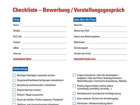 urlaubs checkliste kostenlos bewerbungsgespr 228 ch checkliste chip