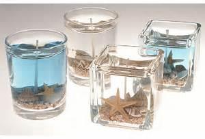 Diy project gel beach candle favor or decor