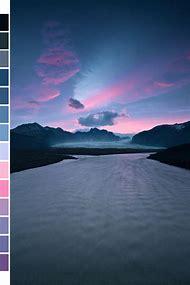 Light Blue and Purple Color Palettes