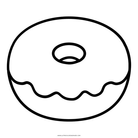Donut Kleurplaat by Doughnut Coloring Page Ultra Coloring Pages