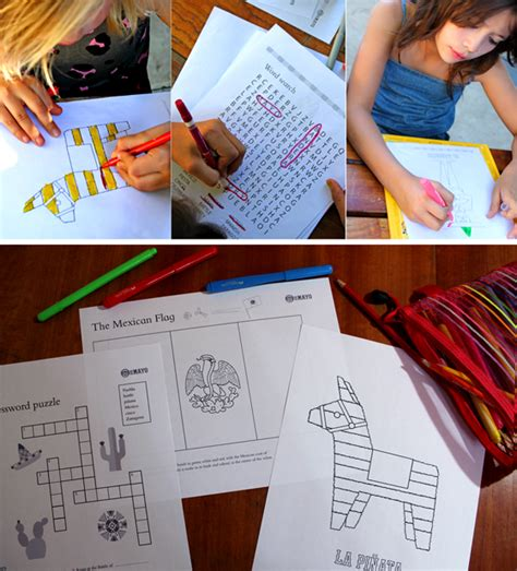 Learn and celebrate! Cinco de Mayo worksheets 10 PDFs!