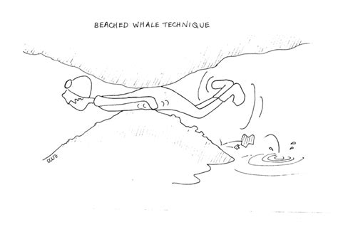 Image: cartoons/beached whale