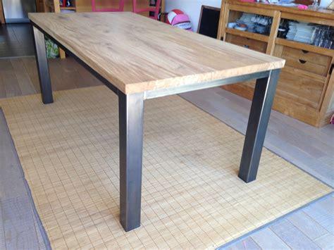 table bois metal sur mesure meubles et rangements par guillaume criquelion creation