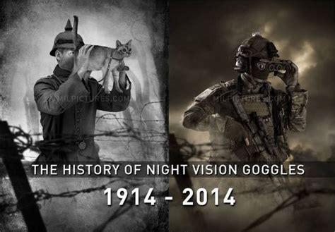 history  night vision goggles  cat butt cat eyes