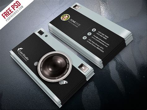 Creative Photography Business Card Template Free Psd Visiting Card Design Vector Freepik Business Photoshop Cs6 Cute Holder Display Free Print At Home Waterproof Dispenser Psd Files Download Etiquette In Spain Moo Deals