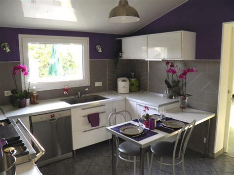deco cuisine gris déco cuisine gris et violet