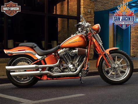 Classic Orange Harley Davidson