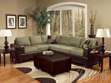 alongo sage easy rider brown bycast sectional sofa set