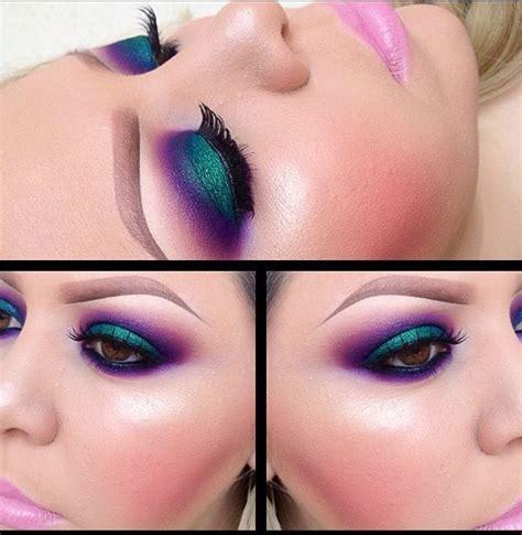 greenpurple eyeshadow eye makeup purple eyeshadow colorful eye makeup