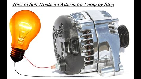 excite  alternator   dc generator capacitor bank  battery youtube