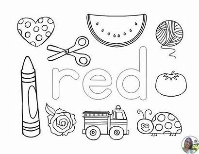 Coloring Pages Colors Learning Preschool Activities Worksheets