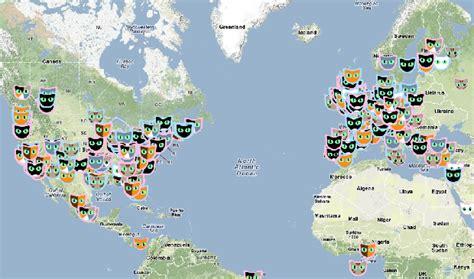 Cat Map  La Carte Interactive Des Chats Dans Le Monde