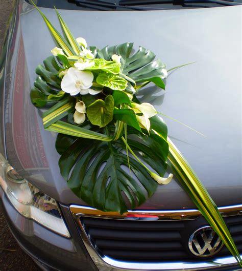d 233 coration de voiture pour mariage fleurs nature contemporain
