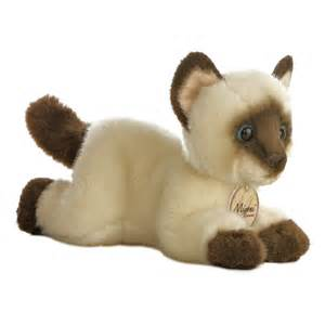 stuffed animal cats realistic stuffed siamese cat 8 inch plush cat by