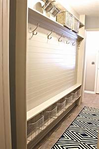 mudroom paneling transitional laundry room sherwin With best brand of paint for kitchen cabinets with bamboo metal wall art