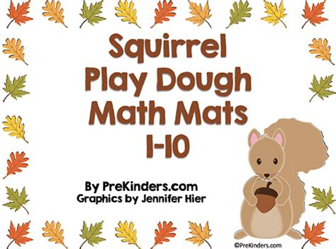 squirrel play dough counting mats prekinders 940 | squirrel playdough