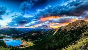 Full, Hd, Wallpaper, Amazing, Sunset, Mountain, Lake, Desktop