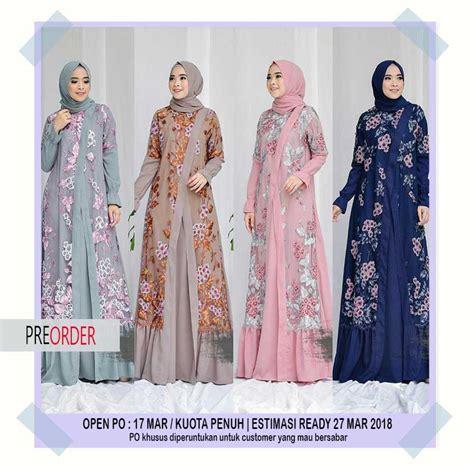 Gamis Orang Tua Kartun Model Baju Gamis Syari Muslim 2018 Modern