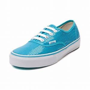 Shop for Vans Authentic Sequins Skate Shoe in Neon Blue at
