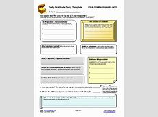 Daily Gratitude Diary Template Coaching Tools from The