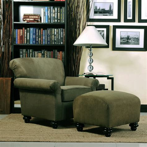 Microfiber Chair And Ottoman by Portfolio Moss Green Microfiber Arm Chair And