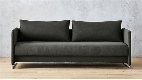 Gray Sleeper Sofa by Tandom Grey Sleeper Sofa Cb2
