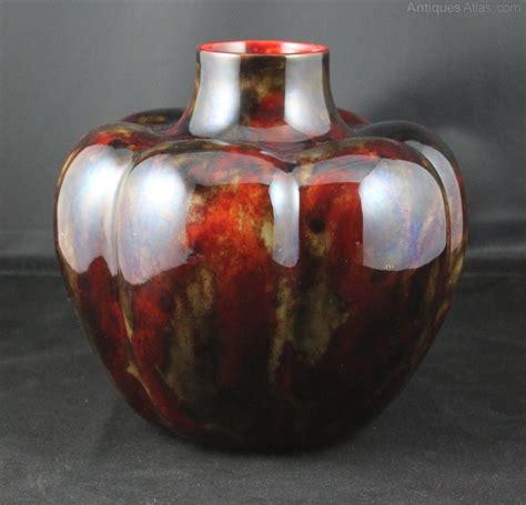 pumpkin vase antiques atlas royal doulton flambe pumpkin vase