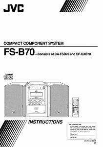 Jvc Fs B70 User Manual Compact Component System Manuals
