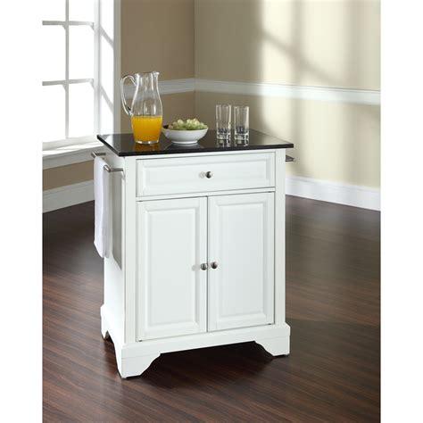 white kitchen island granite top lafayette solid black granite top portable kitchen island