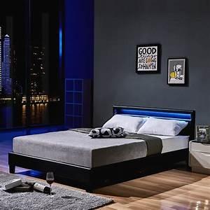 Bett 200x200 Weiß Bettkasten : led bett astro 140 x 200 schwarz klassisches bett real ~ Bigdaddyawards.com Haus und Dekorationen