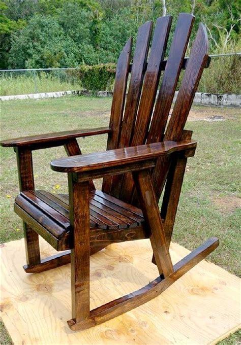 diy wooden pallet rocking chairs design pallets designs