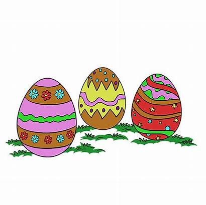 Easter Eggs Draw Egg Drawing Easy Tutorial