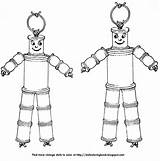 Dolls Wooden Spool Very Coloring Suspicious String Doll Spools Folk Nursery sketch template