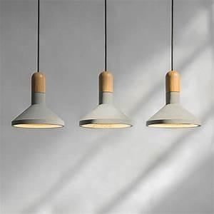 Concrete pendant light such