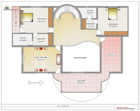 6 bedroom house plans luxury duplex house plan and elevation 4217 sq ft indian