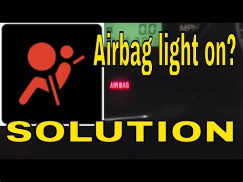 turn off airbag light how to reset clear the airbag air bag control module light