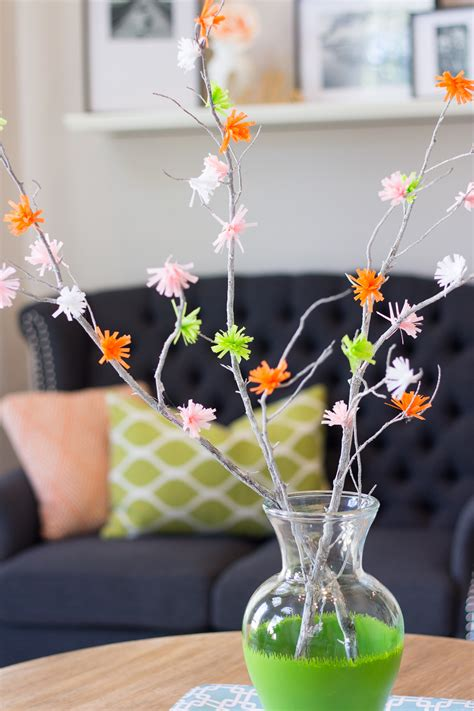 colorful crepe paper flower branches allfreepapercraftscom