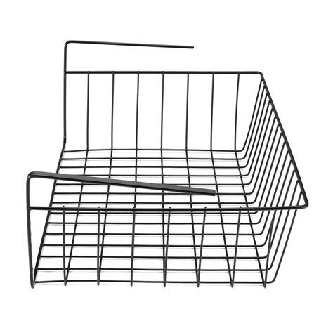hanging shelf wire storage baskets kitchen pantry desk cabinet cupboard rack organizer