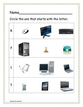kindergarten computer worksheets  images computer