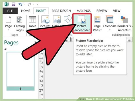 Publisher 2003 In Pictures Create A Brochure From A Template 3 Ways To Create Watermarks In Publisher Wikihow