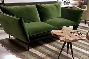Canapé Velours Vert : d co de novembre chez moa interieur le buzz de rouen ~ Teatrodelosmanantiales.com Idées de Décoration