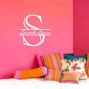 wall name decals 2017 grasscloth wallpaper With custom letter stickers